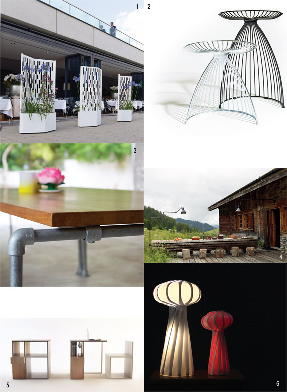 1 Elmas by Michael Koenig, FLORA, ⓒ Constantin Meyer Cologne 2 ANGEL 62 cm, Gry Homskov, ADDINTERIOR, ⓒ addinterior 3 Ook table, 100% generous, Fabienne Thonet, FAB DESIG N, ⓒ Fabienne Thonet 4 Lampe Gras XL Outdoor, DCW EDITIONS ⓒ DCW &#233ditions 5 ASTRO lamp, Arturas Sargaitis, ARTURASS, ⓒ Arturas Sargaitis 6 miniDESK, Andrea Gravina, FILODESIG N, ⓒ filodesign s.a.s.